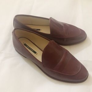 Burgundy Red ZARA Loafers
